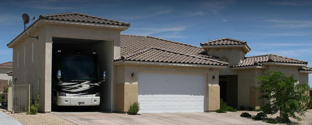 Rv Garages Cottage Court Custom Homes Laughlin Nv